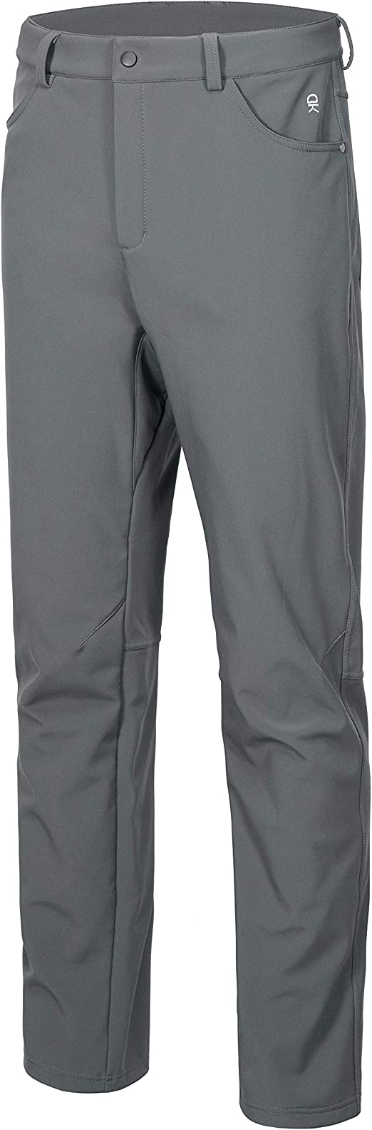 Little Donkey Andy Men's Winter Hiking Ski Pants, Softshell Pants, Fleece Lined and Water Repellant Gray Size M