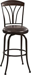 Hillsdale Furniture Marano Swivel Counter Stool, Speckled Bronze Pewter