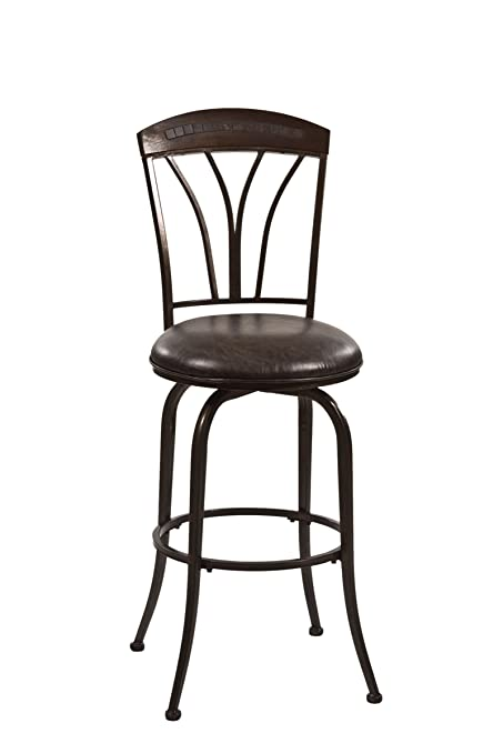 Peachy Hillsdale Furniture 5690 826H Marano Swivel Counter Stool Speckled Bronze Pewter Caraccident5 Cool Chair Designs And Ideas Caraccident5Info