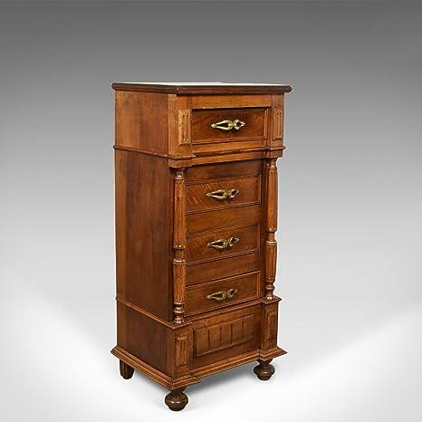 francese antico armadietto laterale, stretto, armadio, comodino ...