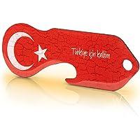 """Code24 winkelwagenontgrendelaar """"Turkije"""" - Praktische boodschappenschip sleutelhanger met Turkse vlag & sleutelzoeker…"""