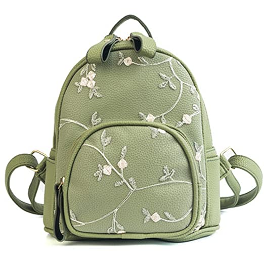Lace Small Mini Backpacks Women Leather Backpack Flower Floral Backpacks  Teenage Girls Ladies Female Shoulder School 3d2ac35f5660c