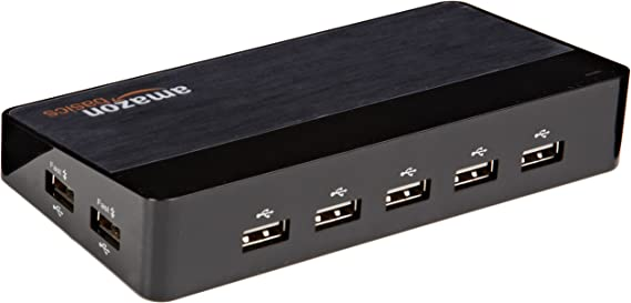 Adaptateur prise 4 ports USB 3.0 HUB Splitter avec Power Micro USB Port Ordinateur Vie morte