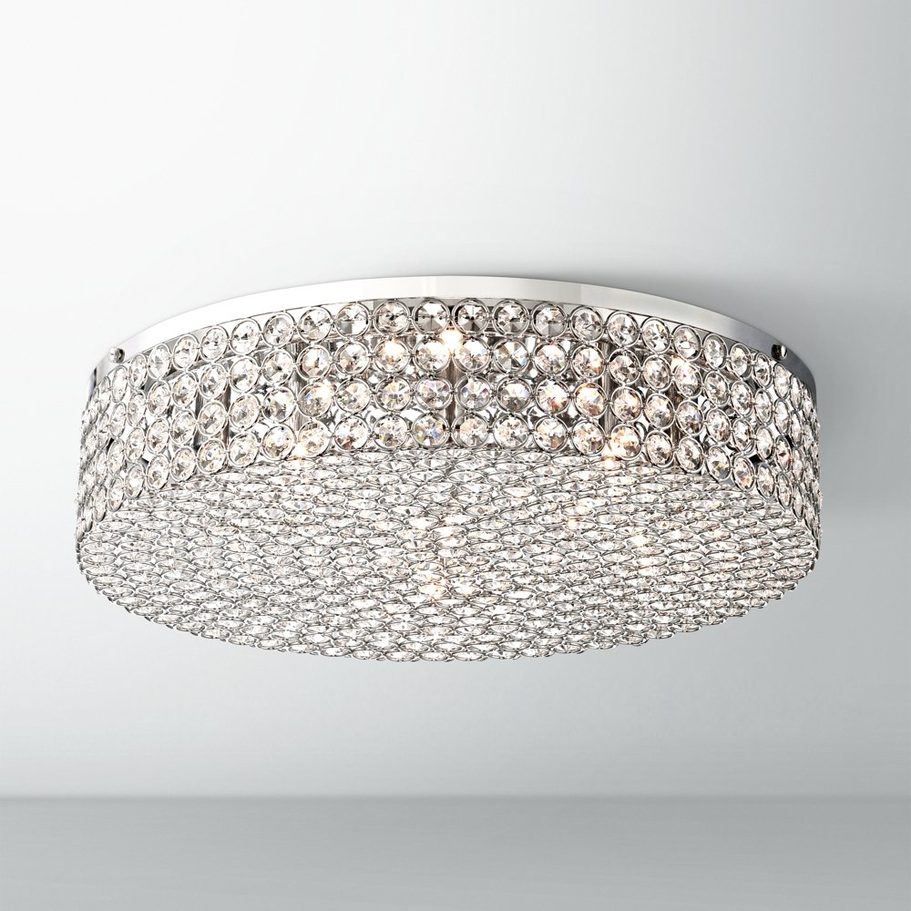 Velie 16 wide round crystal ceiling light amazon arubaitofo Choice Image