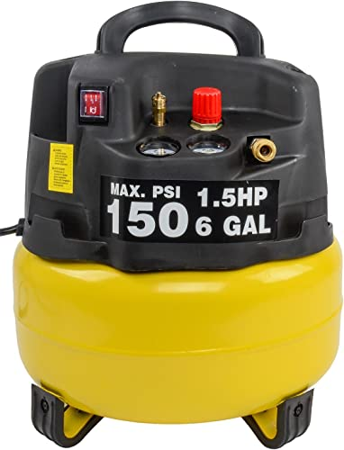 JEGS Performance Products 81966 Air Compressor 6 Gallon 1.5 HP 120VAC 60Hz 9.7A