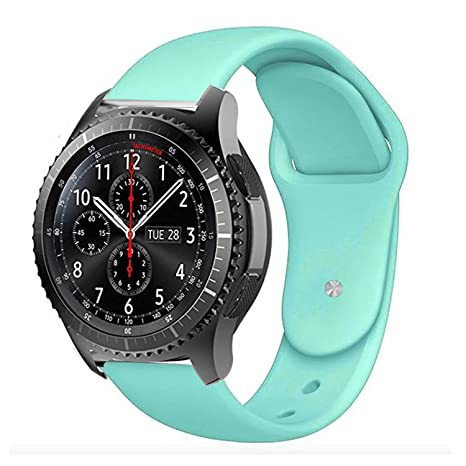 BarRan Vivoactive 3 Bracelet, Remplacement en Silicone Classic Band Smartwatch Bracelet pour Garmin Vivoactive 3 (Mint): Amazon.fr: High-tech