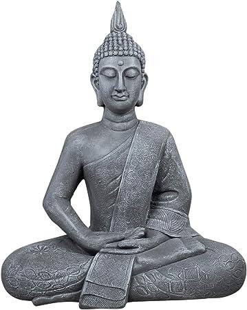 Estatua de Buda Grande 65 cm sentado Figura decorativa para salón Escultura XL: Amazon.es: Hogar