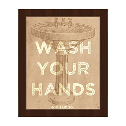 Amazon.com: Wash Your Hands Mom Said So - Saying Quote with Pedestal ...