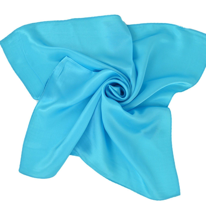 Bianco Unisex Versatile Tinta Unita 100/% Seta di Gelso Lusso Bandana Fazzoletti da Collo Collo Sciarpa Sciarpa Quadrata Sciarpe