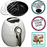Avalon Bay AirFryer with Rapid Air Circulation Technology, Large 3.2 Litre Capacity, Temperature up to 400 Degrees, Oil-Less Healthy Air Fryer, White, AB-Airfryer100W