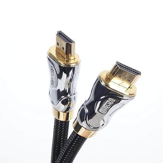 Duronic Cable HDMI 2.0 DE Alta Velocidad HDC04 / 5 m Última Generación Conectores Chapados en Oro de 24K Transmisión de Alta Velocidad de Ethernet, 3D, ...