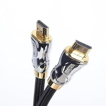 Duronic HDC04 / 2 m Cable HDMI 2.0 de Alta Velocidad Última Generación Conectores Chapados en