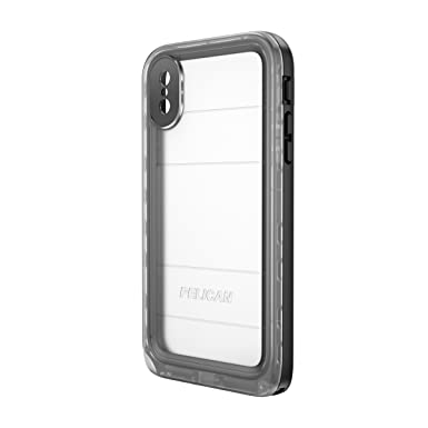 Pelican iPhone X Case Marine Waterproof Case for iPhone X (Clear Black)   Amazon.co.uk  Electronics 449d8ffe0e