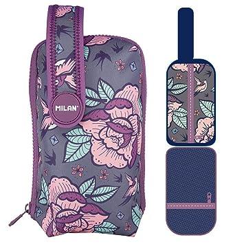 Estuche Milan Flowers Pink 8 piezas: Amazon.es: Oficina y ...