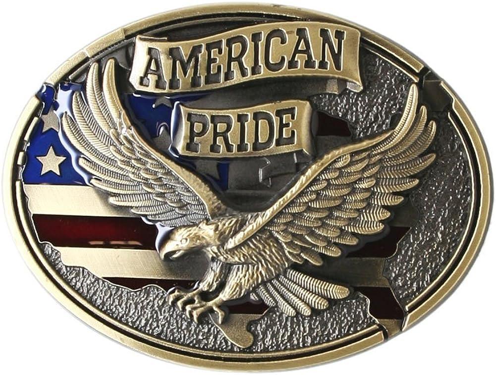 American Pride Eagle Belt Buckle - Bronze Color