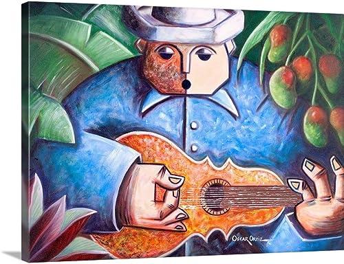 Trovador de Mango Bajito Canvas Wall Art Print