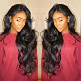 Yeefant Curly Wig Glueless Full Lace Wigs Black Women Indian Remy Human Hair Lace Front