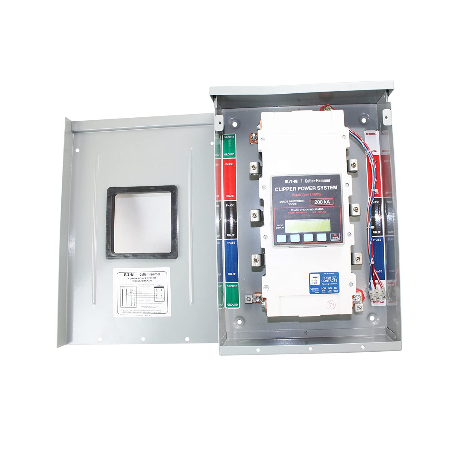 Eaton Cutler Hammer Cps200480ysk Clipper Power System Visor Tvss Surge Protection Device Wiring Diagram Panel
