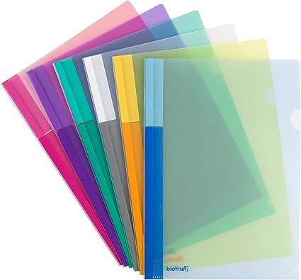 Tarifold Es 511529 – Pack 24 Carpeta Dossier Uñero Portafolios A4 PP, Colores Traslúcidos - 24 uds: Amazon.es: Oficina y papelería