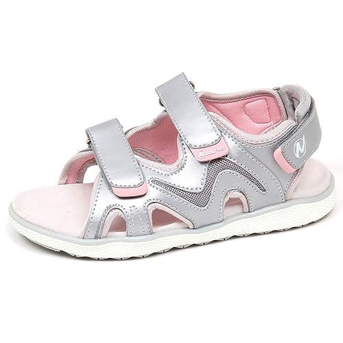 new products 0eca6 7383d Naturino E9220 Sandalo Bimba Girl Silver/Pink Scarpe Eco ...