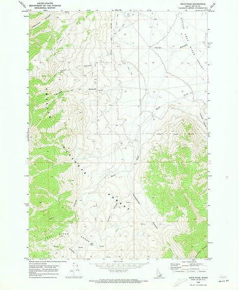 Amazon Com Yellowmaps Arco Pass Id Topo Map 1 24000 Scale 7 5 X