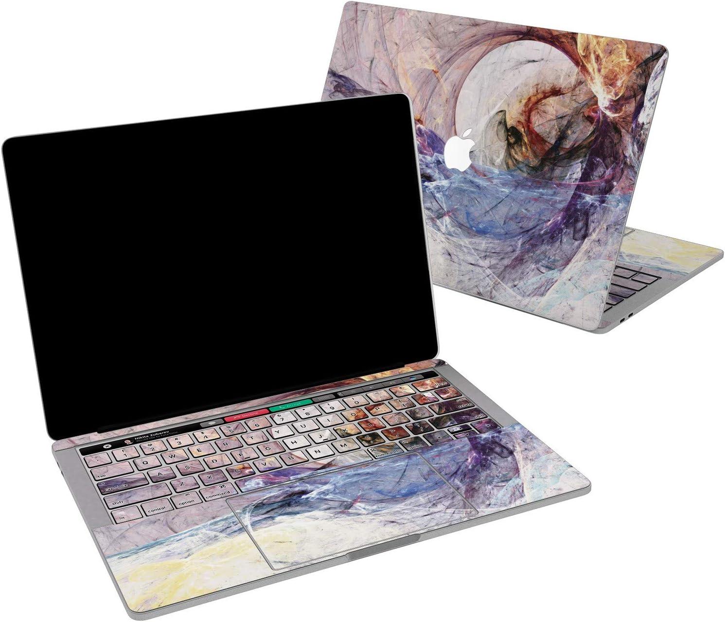 Lex Altern Vinyl Skin for MacBook Air 13 inch Mac Pro 16 15 Retina 12 11 2020 2019 2018 2017 Abstract Wave Paint Art Fire Luxury Swirl Modern Cover Keyboard Decal Sticker Touch Bar Laptop Women