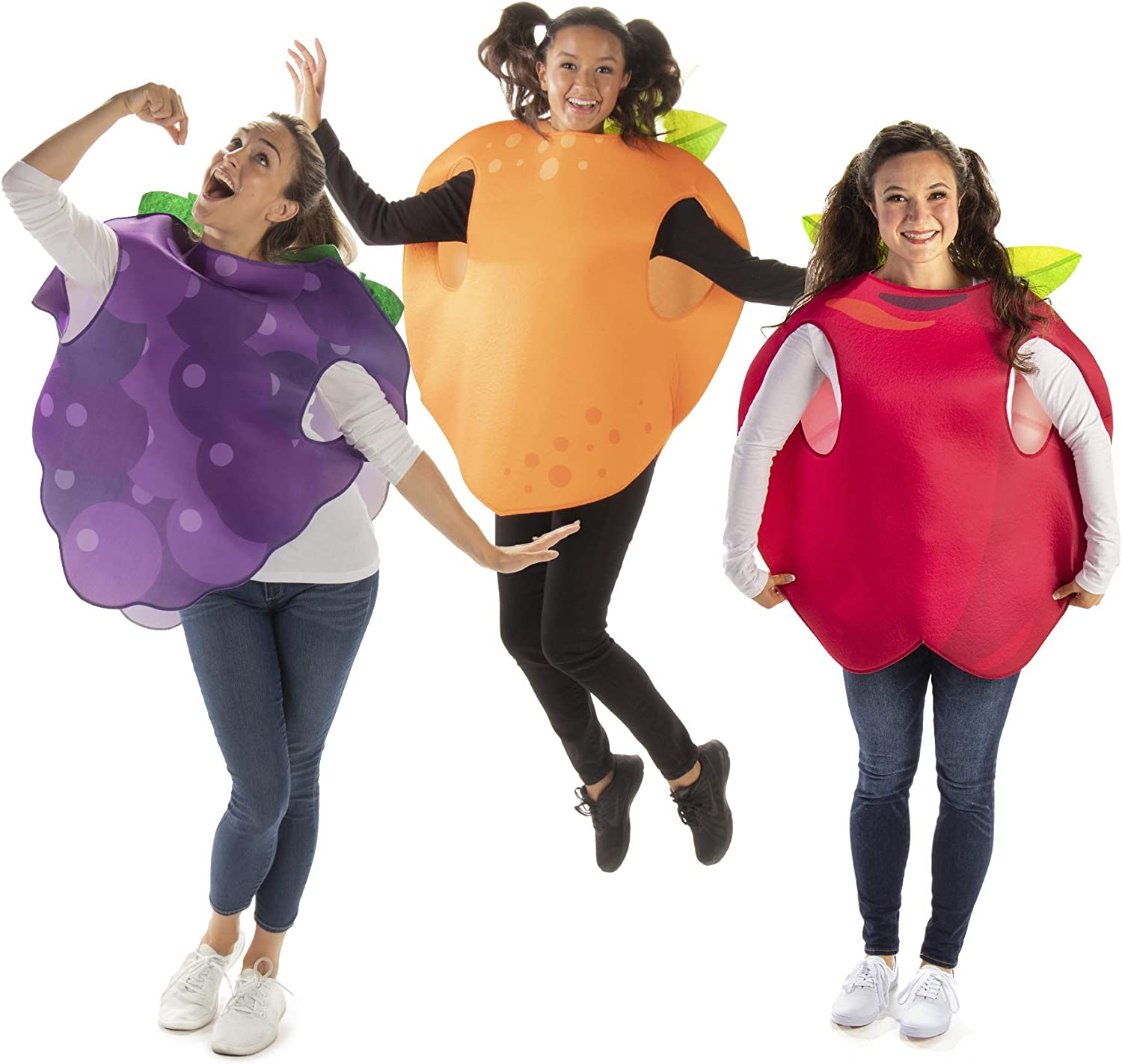 Fruit Salad - Apple, Orange & Grapes Group Costume - Funny Food Halloween Outfit