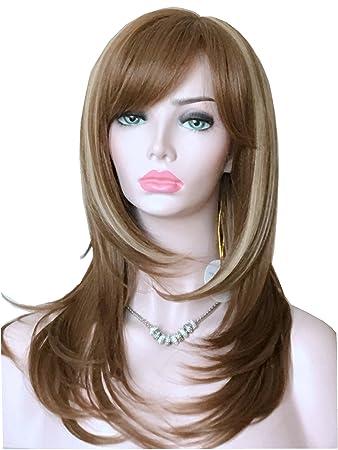 Amazon Com Wigbuy Long Layered Shoulder Length Synthetic Hair