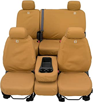 Duck Weave Gravel Carhartt SeatSaver Second Row Custom Fit Seat Cover for Select Chevrolet//GMC Models
