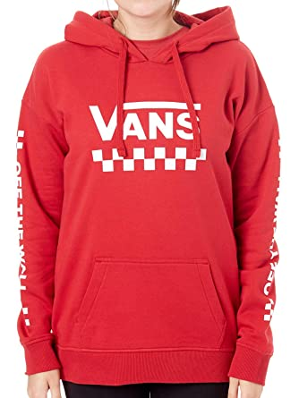 49fcdb948413f Vans Sweats À Capuche Too Much Fun Rouge Taille  L (Large)  Amazon ...
