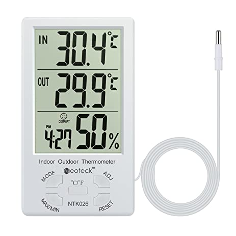 Amazon.com: Digital Thermometer Neoteck 2 in 1 Hygrometer ...