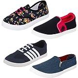 Bersache Women's Casual Sneaker Shoes - Pack of 4