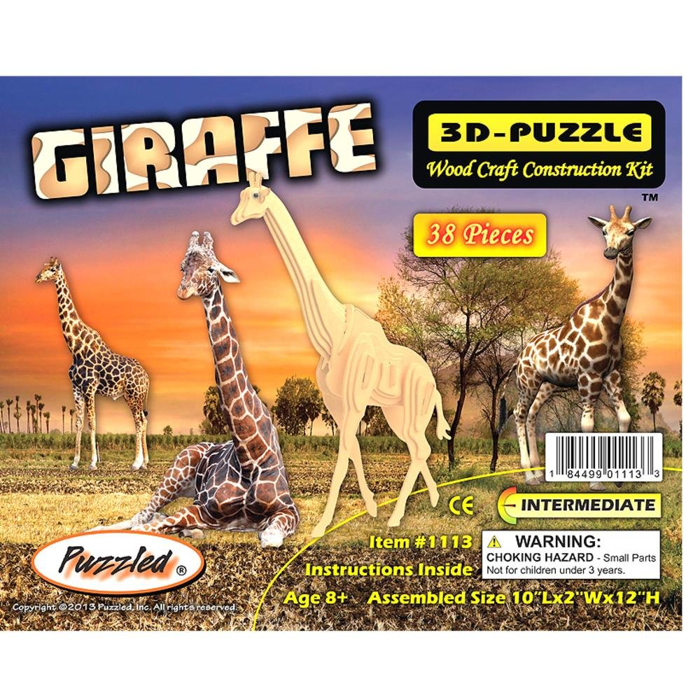 【GINGER掲載商品】 Puzzled Natural Puzzled Giraffe 3D Natural by Wood Puzzle by Puzzled B002GJMNIU, あしや堀萬昭堂:2e440154 --- quiltersinfo.yarnslave.com