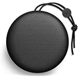 B&O Play Beoplay A1 Portable Bluetooth Speaker, Wireless Splash and Dust Resistant Speaker with Built-In Microphone, Black
