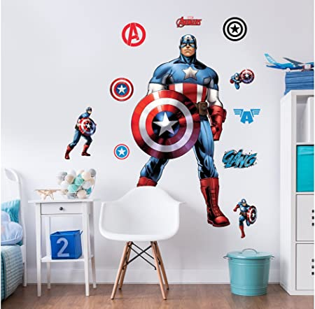 Wall Art Decal Stickers Quality New Captain America light switch stickers