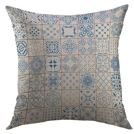 DDOBY Funda de Almohada Decorativa para sofá, Colorida Flor ...