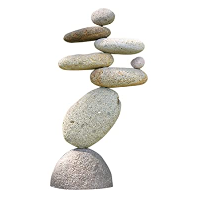 Ancient Graffiti Eight-Stone Balancing Cairn - Indoor/Outdoor Garden Decoration : Garden & Outdoor