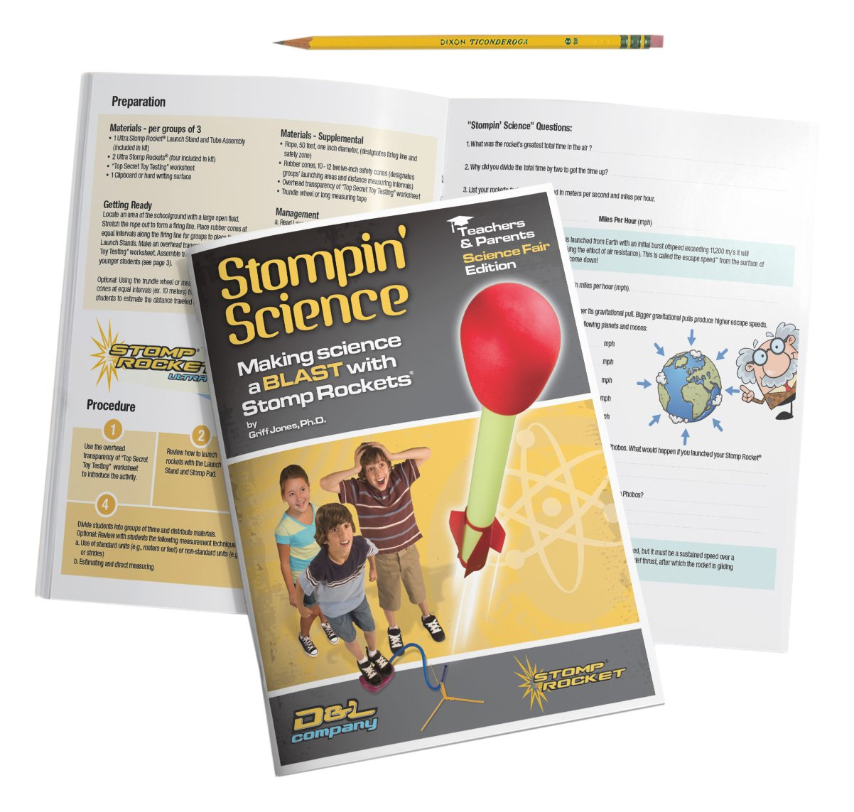 Stomp Rocket Stompin Science Book D+L Company 20000
