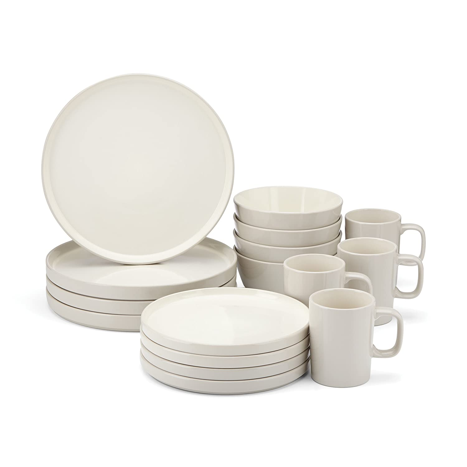 Amazon.com Food \u0026 Wine For Gorham Modern Farmhouse 16-Piece Dinnerware Set Barley Kitchen \u0026 Dining  sc 1 st  Amazon.com : gorham dinnerware - pezcame.com
