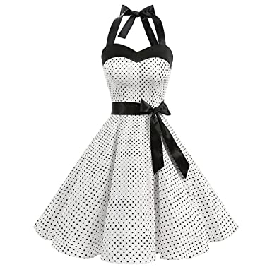 vintage dot printing 1950 vintage dresses for women sleeveless 1950 Style Coat vintage dot printing 1950 vintage dresses for women sleeveless bandage evening party swing dress at amazon women s clothing store