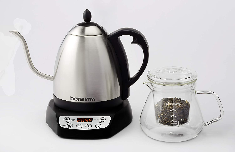 Bonavita 1.0 L col de cygne température variable électrique Bouilloire en acier inoxydable