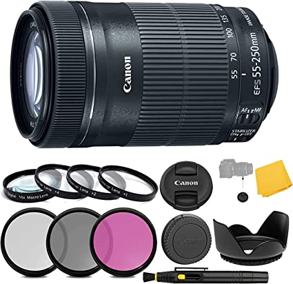 Canon Ef S 55 250 Mm F 4 5 6 Is Stm Objektiv 3 Stück Kamera