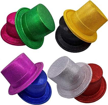 Amazon.com: MIBOW Sombreros de fiesta coloridos con ...