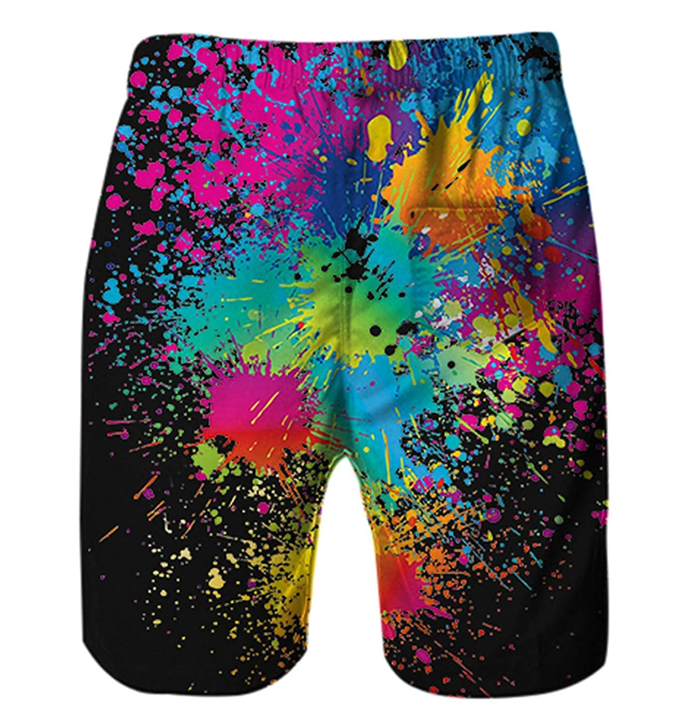 yu bo Quick Dry Beach Shorts Lion with Tree of Life Surfing Trunks Surf Board Pants with Pockets for Men