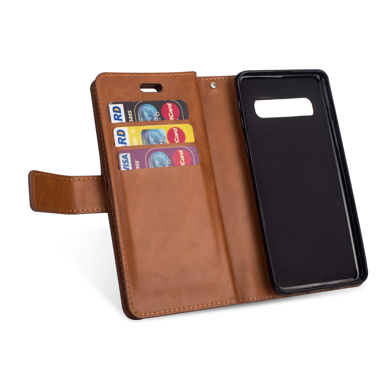 Felfy 9 Kartenf/ächer Kompatibel mit Galaxy S10 H/ülle,Kompatibel mit Galaxy S10 Case Leder Magnetische Flip Case PU Leder Handyh/ülle Multifunktions Tasche Klapph/ülle Schutzh/ülle,Gr/ün