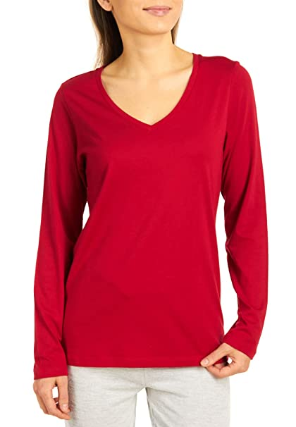 HUE Womens Modal Blend V-Neck Sleep Shirt Red S at Amazon Women s ... b89c90eec