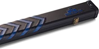 Peradon Clubman Billard Coque pour 3/4Queue   Noir et Bleu flèches