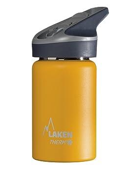 Laken Botella Térmica 350 ML Amarilla de Acero Inoxidable 18/8 y Doble Pared de