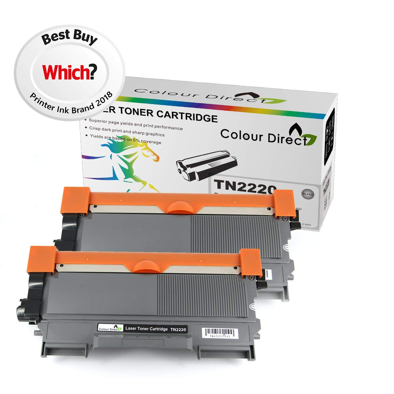 Colour Direct Negro 2 X TN2220/ TN2210 Compatiable tóner Para ...