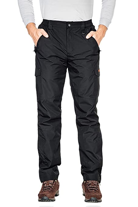46bb5f4d6f Nonwe Men s Snow Sport Cargo Pants Outdoor Skiing Black 34 32 quot  ...